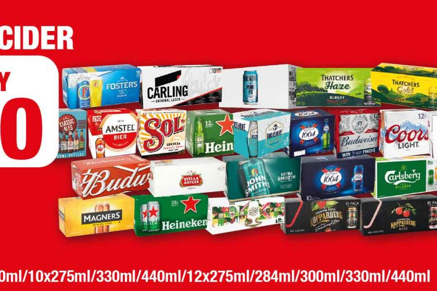 NP13-21 Beer & Cider Offers at Family Shopper