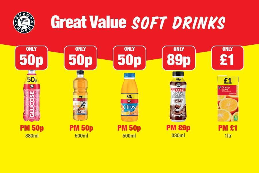 EURO SHOPPER: Great Value Soft Drinks at Family Shopper