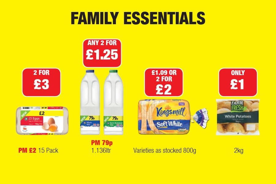 Family Essentials at Family Shopper