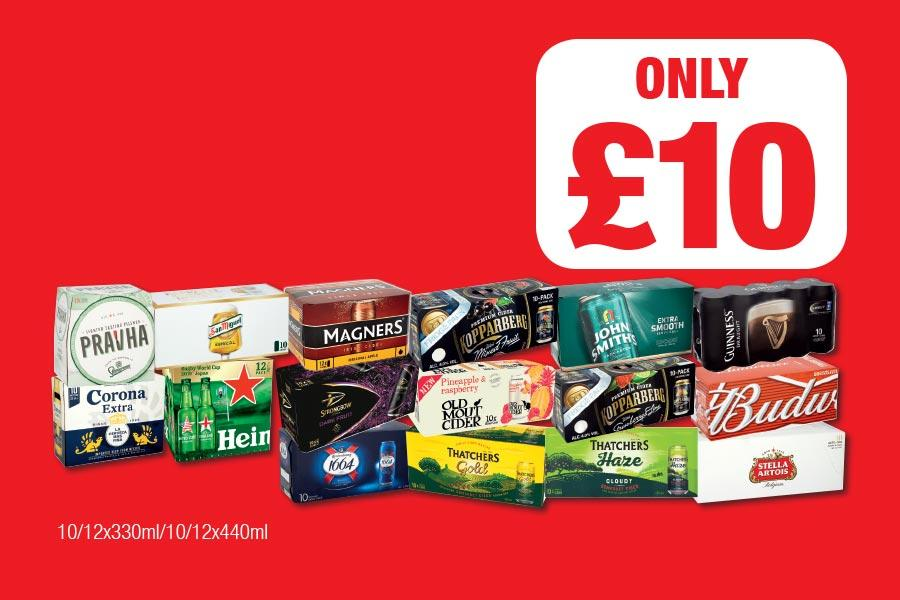 Selected Beers Only £10 each at Family Shopper