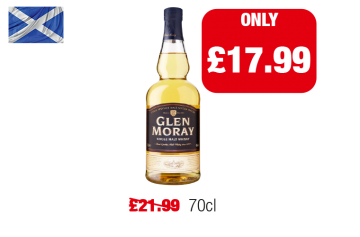 SCOTLAND ONLY: Glen Moray Scotch Whisky - Was £21.99 - Now only £17.99 at Family Shopper