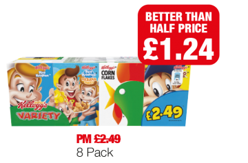 Kellogg's Variety - Better Than Half Price - Was PM £2.49 - Now £1.24 at Family Shopper