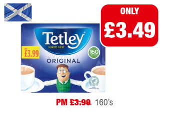 SCOTLAND ONLY: Tetley Original Tea Bags - Was PM £3.99 - Now only £3.49 at Family Shopper