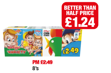 Kellogg's Variety Pack - Was PM £2.49 - Now Better Than Half Price - £1.24 at Family Shopper