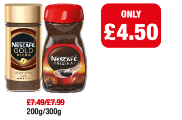 Nescafe Gold Blend, Original - Now only £4.50 each at Family Shopper