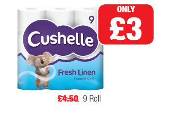 Cushelle Fresh Linen, Was £4.50 - Now only £3 at Family Shopper