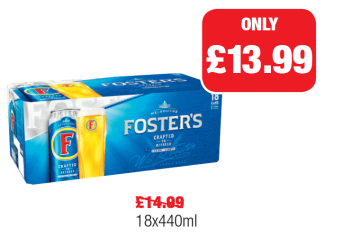 Fosters Cans, Was £14.99 - Now £13.99 at Family Shopper
