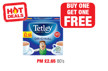 HOT DEALS: Tetley Tea Bags Original - PM £2.65 - Buy One Get One Free at Family Shopper